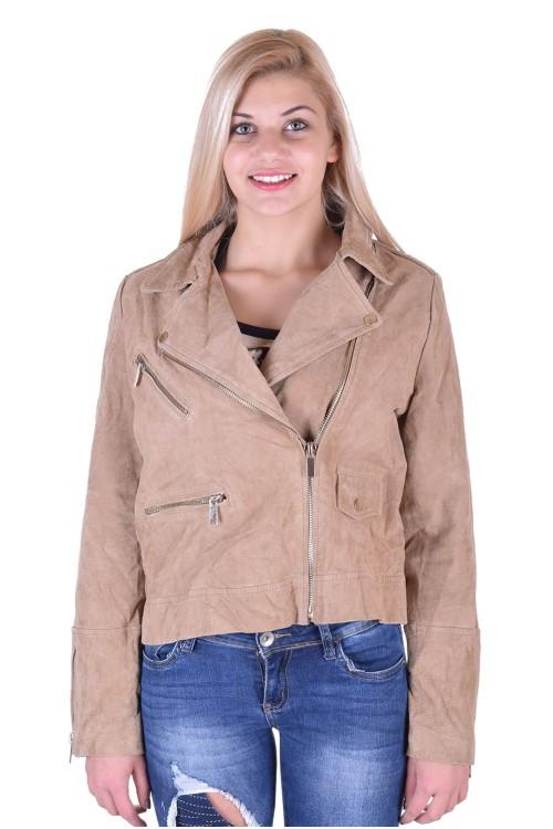 Велурено яке от естествена кожа 15.00