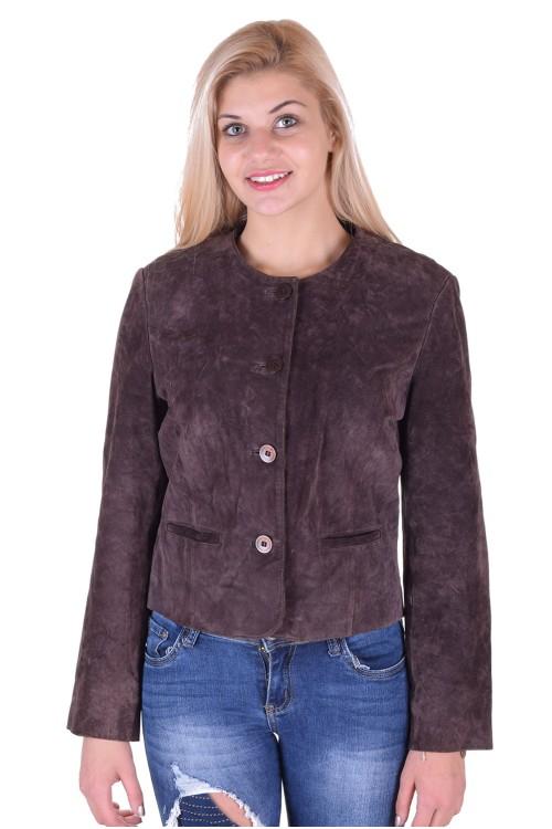 Дамско велурено яке от естествена кожа 19.00