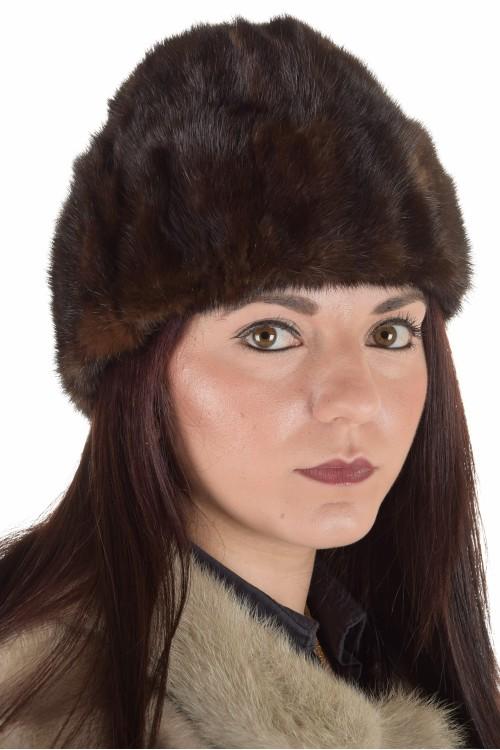 Кокетна дамска шапка от естествен косъм 29.00