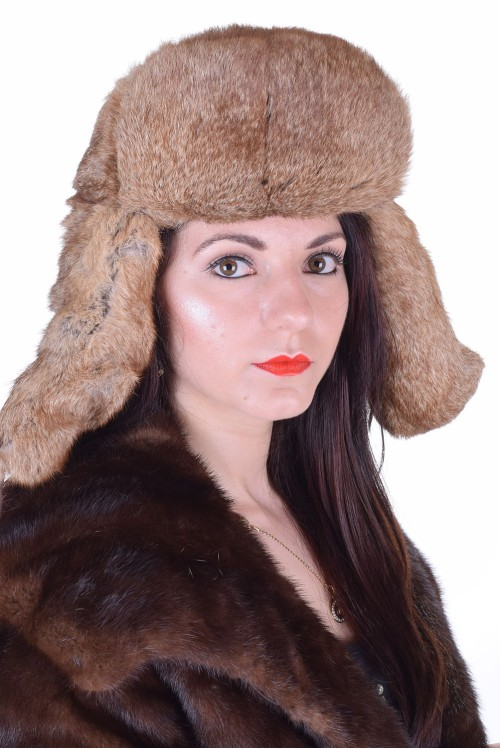 Дамска шапка от естествен косъм 29.00