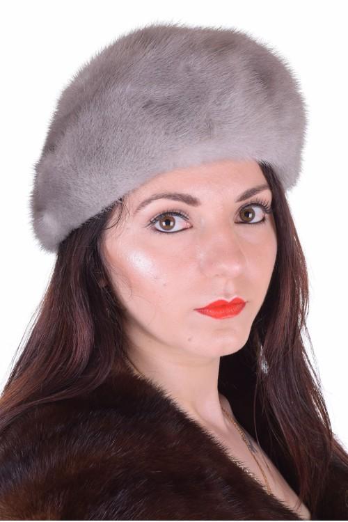 Сива шапка от естествен косъм 29.00
